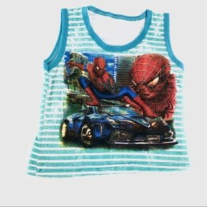 Other - Spider-Man striped tank top